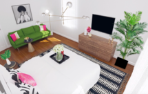 Online Designer Bedroom 3D Model