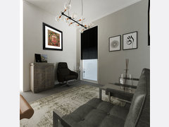 Sleek & Masculine Therapy Office Rendering thumb
