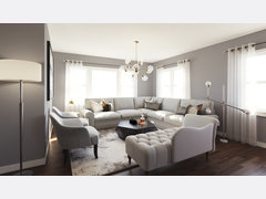 Elegant and Sophisticated Living Room Rendering thumb