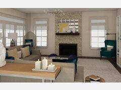 Transitional Modern Living Room Rendering thumb
