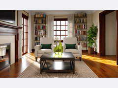 Sophisticated and Classy Living Room Rendering thumb
