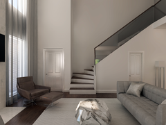 Elegant Modern Living Room Transformation  Rendering thumb