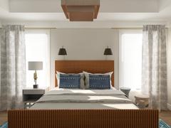 Craftsman Style Bedroom Rendering thumb
