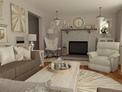 White Transitional Living Room Rendering thumb