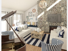Coastal Style for Beach House Transformation Rendering thumb