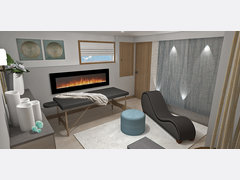 Basement Transformation into Relaxing Home Spa Rendering thumb
