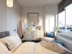 Chic and Classy Bedroom Transformation Rendering thumb