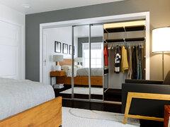 Modern and Sleek Bedroom Rendering thumb