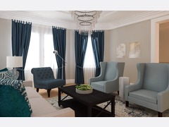 Beautiful Blues in Living Room Transformation Rendering thumb