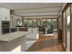 Neutral Transitional Kitchen & Dining Area Moodboard thumb