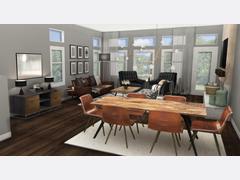 Black & White Living Room Rendering thumb