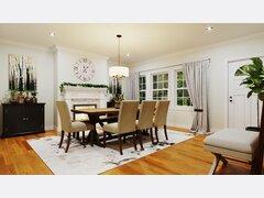 Traditional living & dining room transformation Rendering thumb