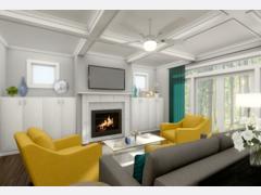 Contemporary pop living room Rendering thumb