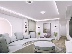 Modern Clean Living/Dining Transformation Rendering thumb