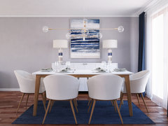 Navy Accents for Contemporary Living Room Rendering thumb