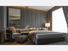 Sophisticated Master Bedroom Rendering thumb