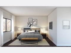 Modern master bedroom update in grey color Rendering thumb