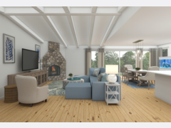 Clean Transitional Living Room Rendering thumb