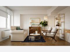 Stylish Beach Living Room & Bedroom  Rendering thumb
