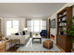 Modern, Yet Subtle Living/Dining Room Rendering thumb