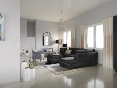 Bright Modern Living Room Rendering thumb