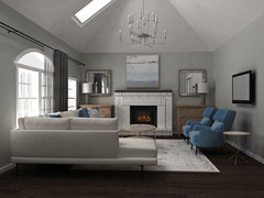 Greyish and Blue Transitional Home  Rendering thumb