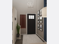 Transitional Cream Combined Living/Dining  Rendering thumb