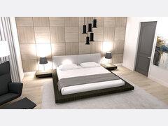 Modern Master Bedroom Transformation Rendering thumb