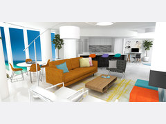 Lux Miami feel living & dining room Rendering thumb