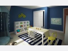 Fun Blue Kids Playroom Rendering thumb