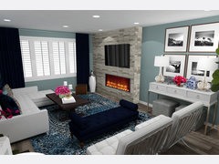 Bold Contemporary Living Room Rendering thumb