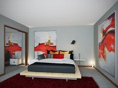 Red Details Bedroom Transformation  Rendering thumb