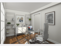 Clean and Modern Home Office Design Rendering thumb