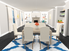 Modern and Traditional Livingroom  Rendering thumb