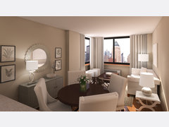 Neutral and Transitional Living Room Rendering thumb