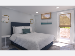 Transitional Guest Bedroom Rendering thumb