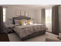 Elegant Master Bedroom Rendering thumb