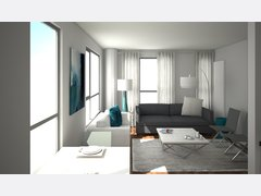 Polished Living Room Rendering thumb