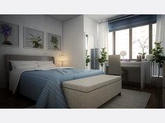 Lyns Modern Living Room & Bedroom Design Rendering thumb