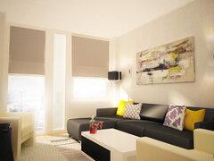 Contemporary Manhattan Living Room Design Rendering thumb