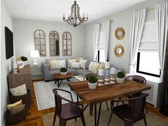 Transitional interior designer room Rendering thumb