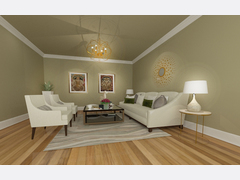 Contemporary Living/Dining & Kids Room Rendering thumb