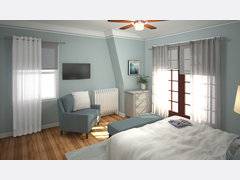 Relaxing Transitional Bedroom Rendering thumb