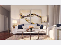 Sleek & Warm Apartment Rendering thumb