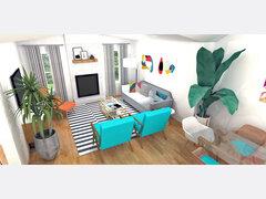 Hollys Bright Living/ Dining Room Rendering thumb