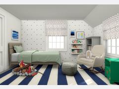 Fun Boys Room Interior Design Rendering thumb