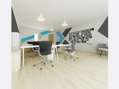 Modern Masculine Business Office Rendering thumb