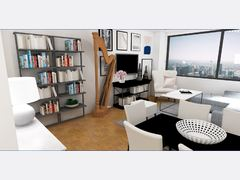 Chic Contemporary Apartment  Rendering thumb