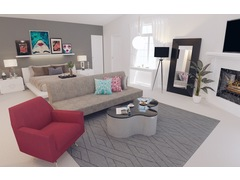 Eclectic Colorful Bedroom Rendering thumb