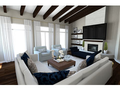 Bright and Sleek Living/Dining Rendering thumb